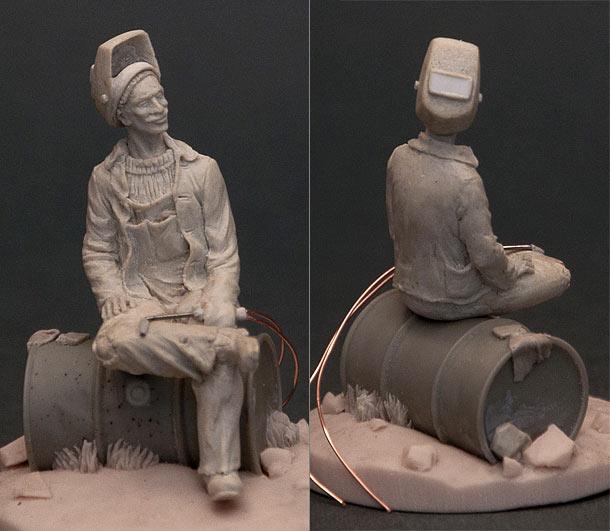 Скульптура: Сварщик на перекуре