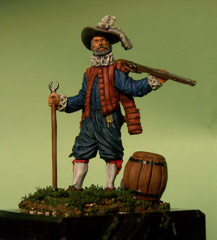 Фигурки: Английский мушкетёр-ветеран, 1588 г., фото #1