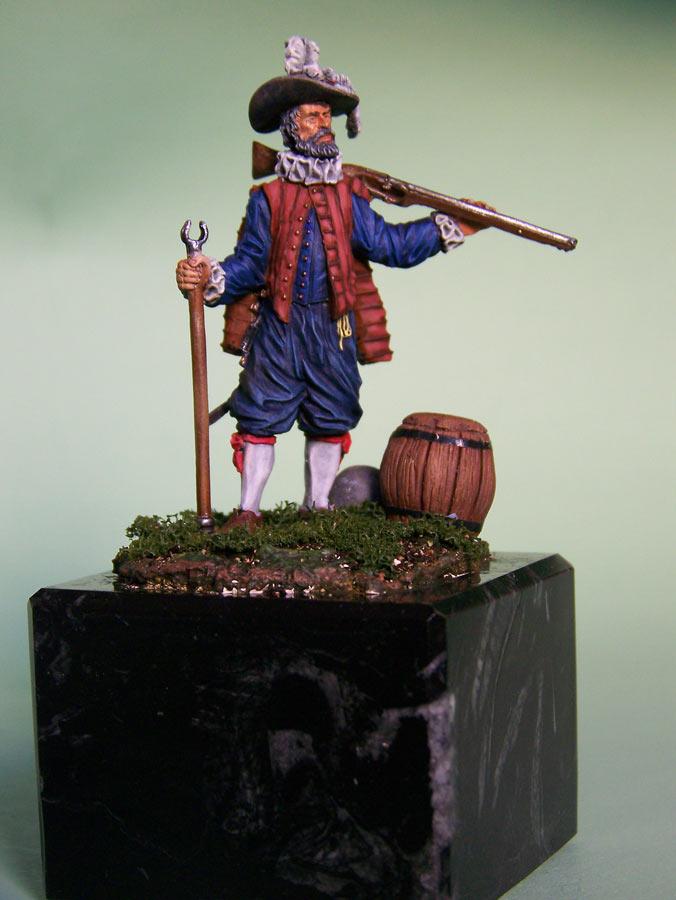 Фигурки: Английский мушкетёр-ветеран, 1588 г., фото #2