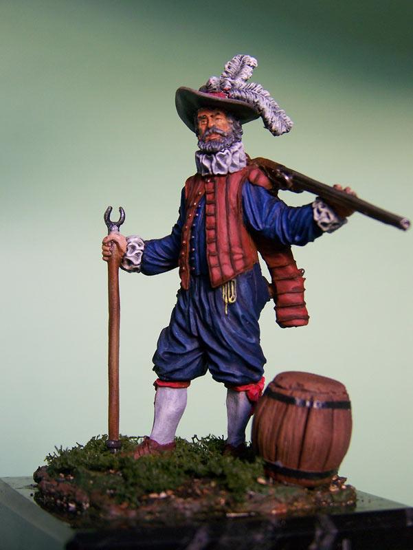 Фигурки: Английский мушкетёр-ветеран, 1588 г., фото #3