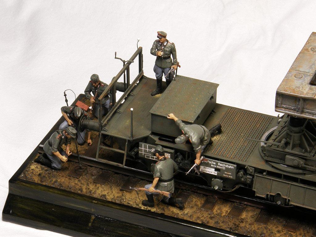 Диорамы и виньетки: Karl-Gerät 041 на ж/д платформе, фото #11