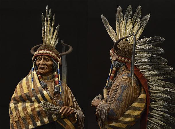 Фигурки: Вождь апачей-хикарилья