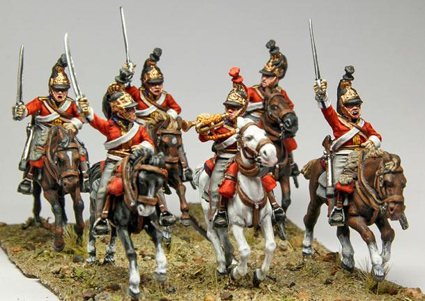 Фигурки: 1-й Гвардейский полк королевских драгун. Британия, 1815г.