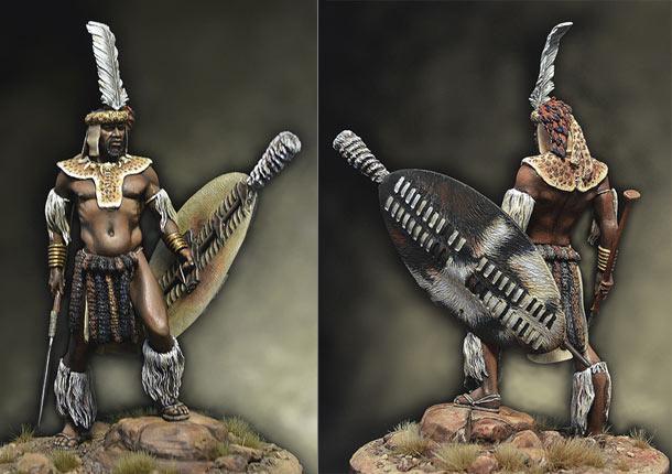 Фигурки: Воин-зулус, 1879 г.