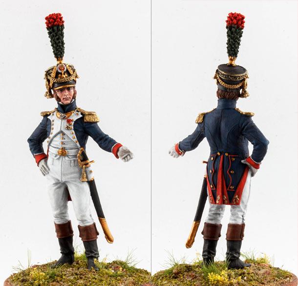 Фигурки: Офицер фузилер-шассеров Императорской гвардии Наполеона, 1812-14