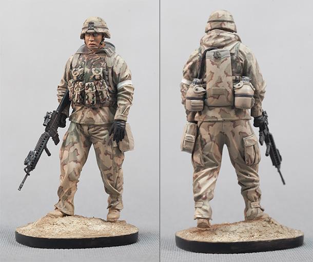 Фигурки: Американский пехотинец, Ирак, 2003