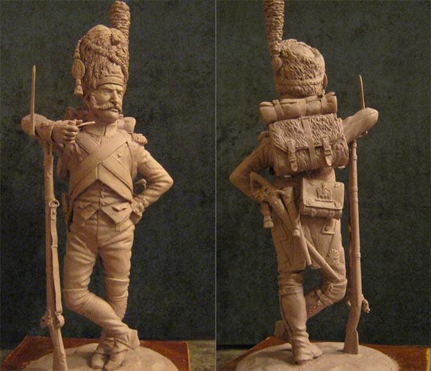 Скульптура:  Рядовой императорской гвардии Наполеона
