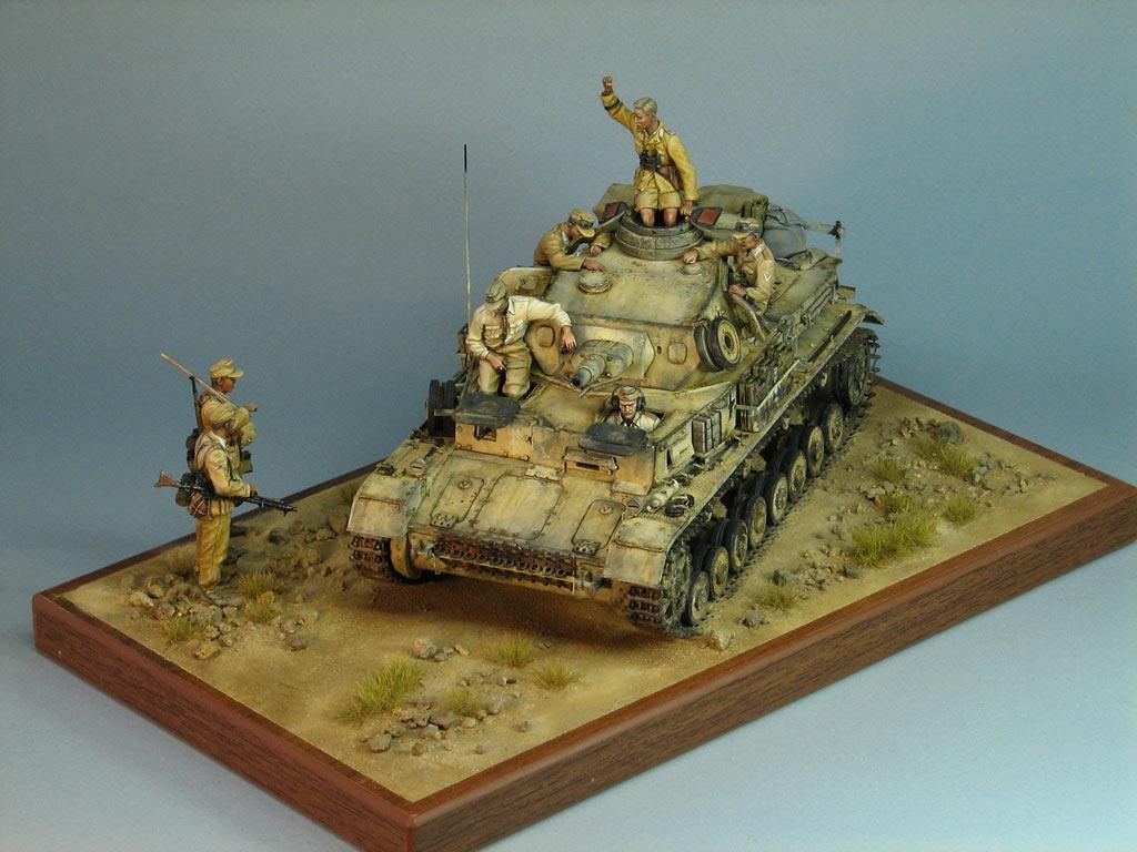 Диорамы и виньетки: Pz.IV Ausf.E в Африке, фото #9