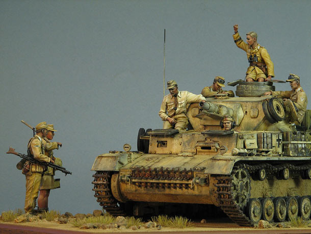 Диорамы и виньетки: Pz.IV Ausf.E в Африке