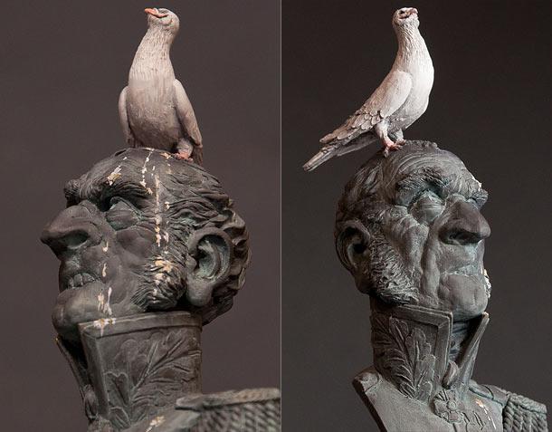 Скульптура: Памятник голубю...