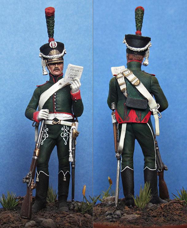 Фигурки: Рядовой 26 конно-егерского полка, 1809 г.