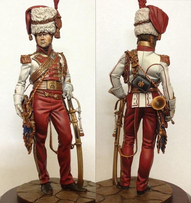 Фигурки: Старший трубач 2-го полка улан Императорской Гвардии, 1811-13 гг.