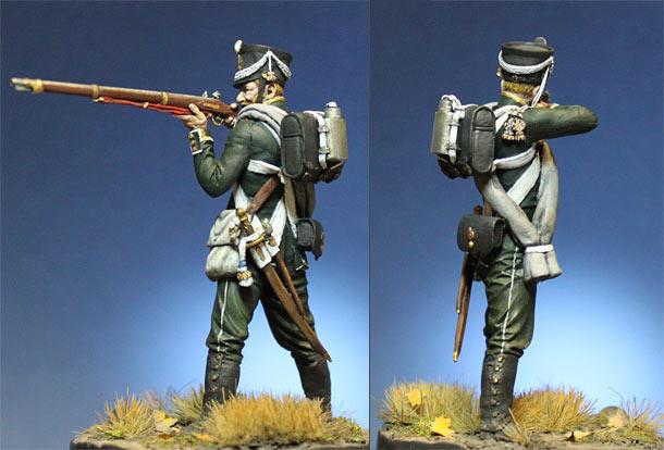 Фигурки: Унтер-офицер 1-го морского полка, октябрь 1812 г.