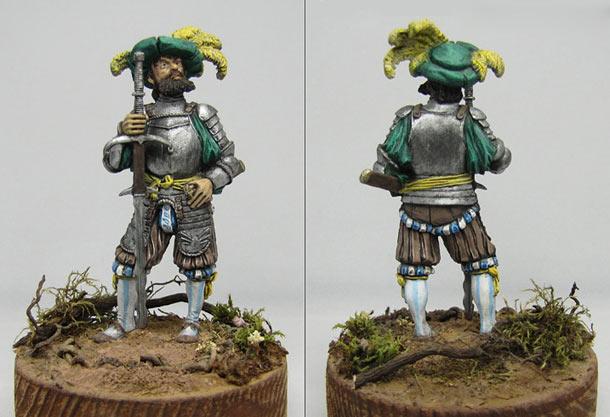 Фигурки: Ландскнехт с мечом, XVI в