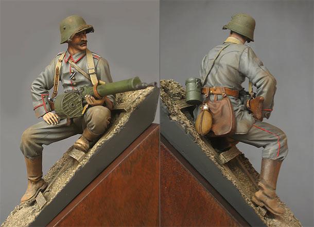 Фигурки: Германский пулемётчик, 1916