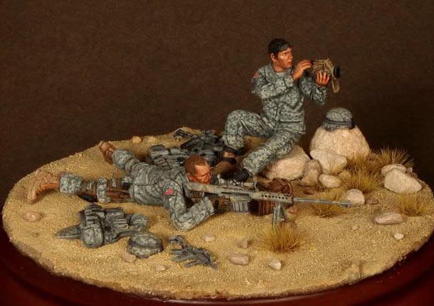 Диорамы и виньетки: Снайперская пара 82-ой парашютной дивизии США