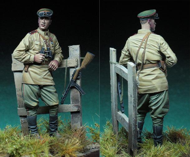 Фигурки: Советский офицер, WW2