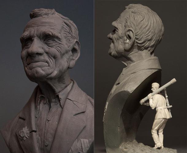 Скульптура: Вчера была война...