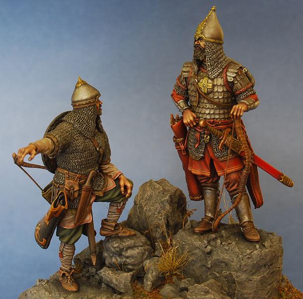 Фигурки:  Русские воины, середина XIV века