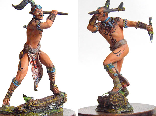 Фигурки: Воин племени Майя, XVI век