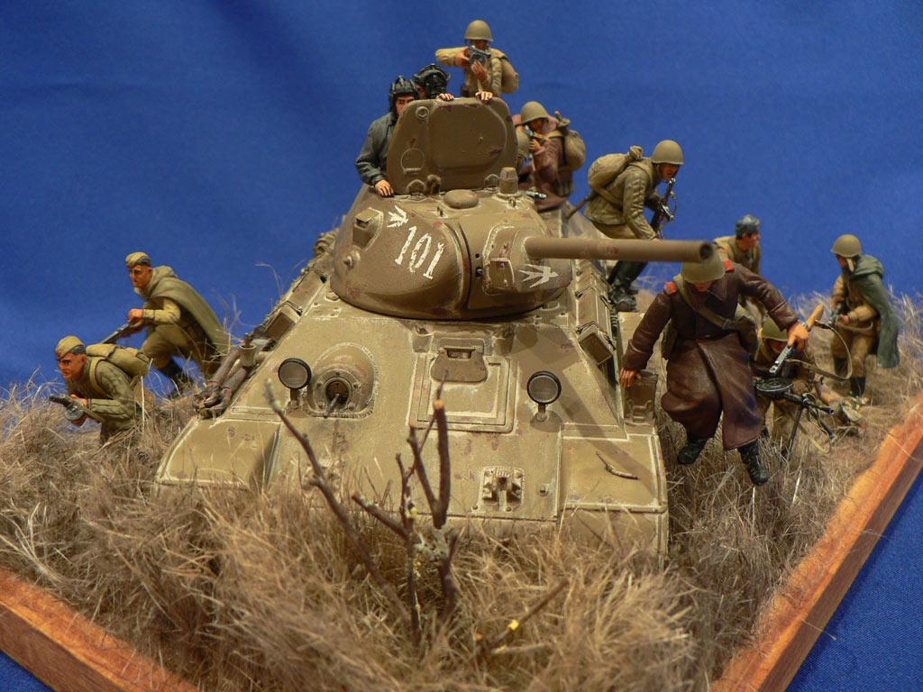 Диорамы и виньетки: Танковый десант, фото #1