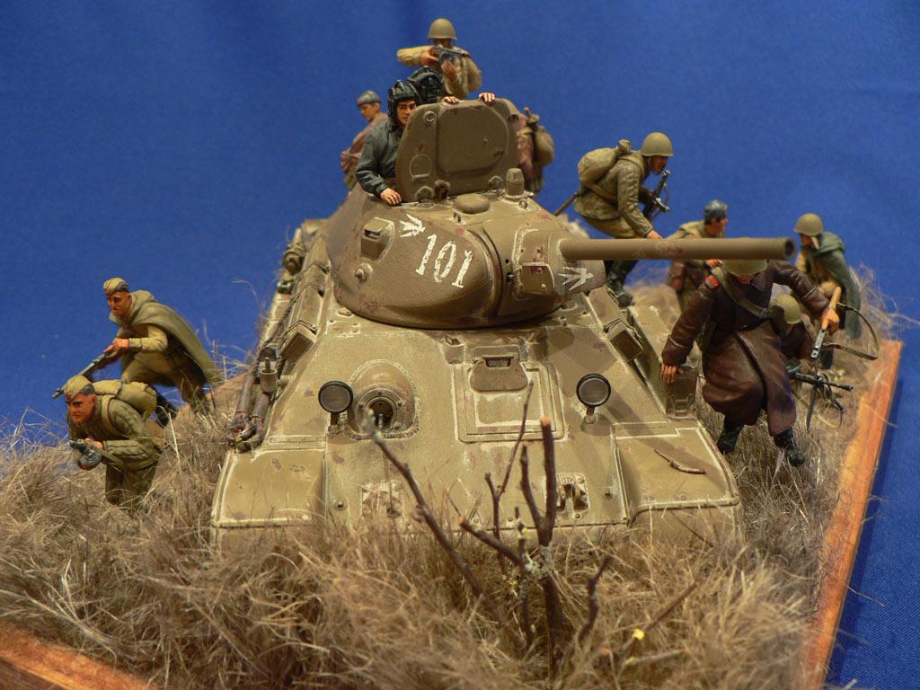Диорамы и виньетки: Танковый десант, фото #10
