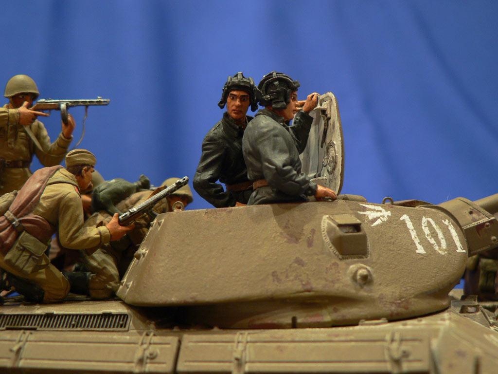 Диорамы и виньетки: Танковый десант, фото #32