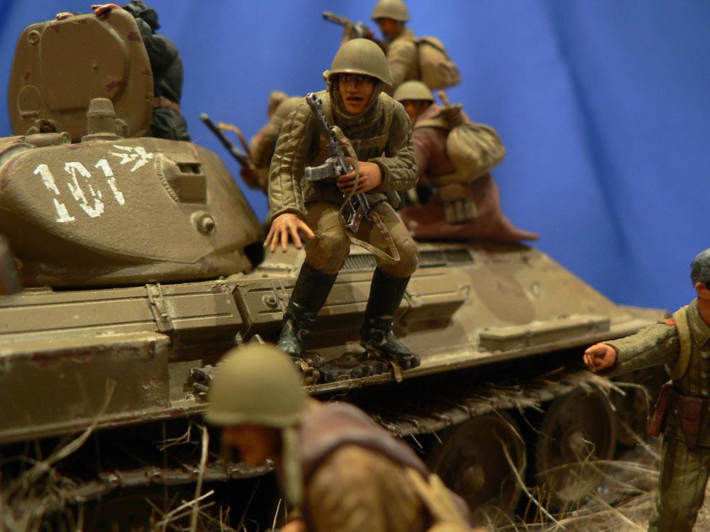 Диорамы и виньетки: Танковый десант, фото #33