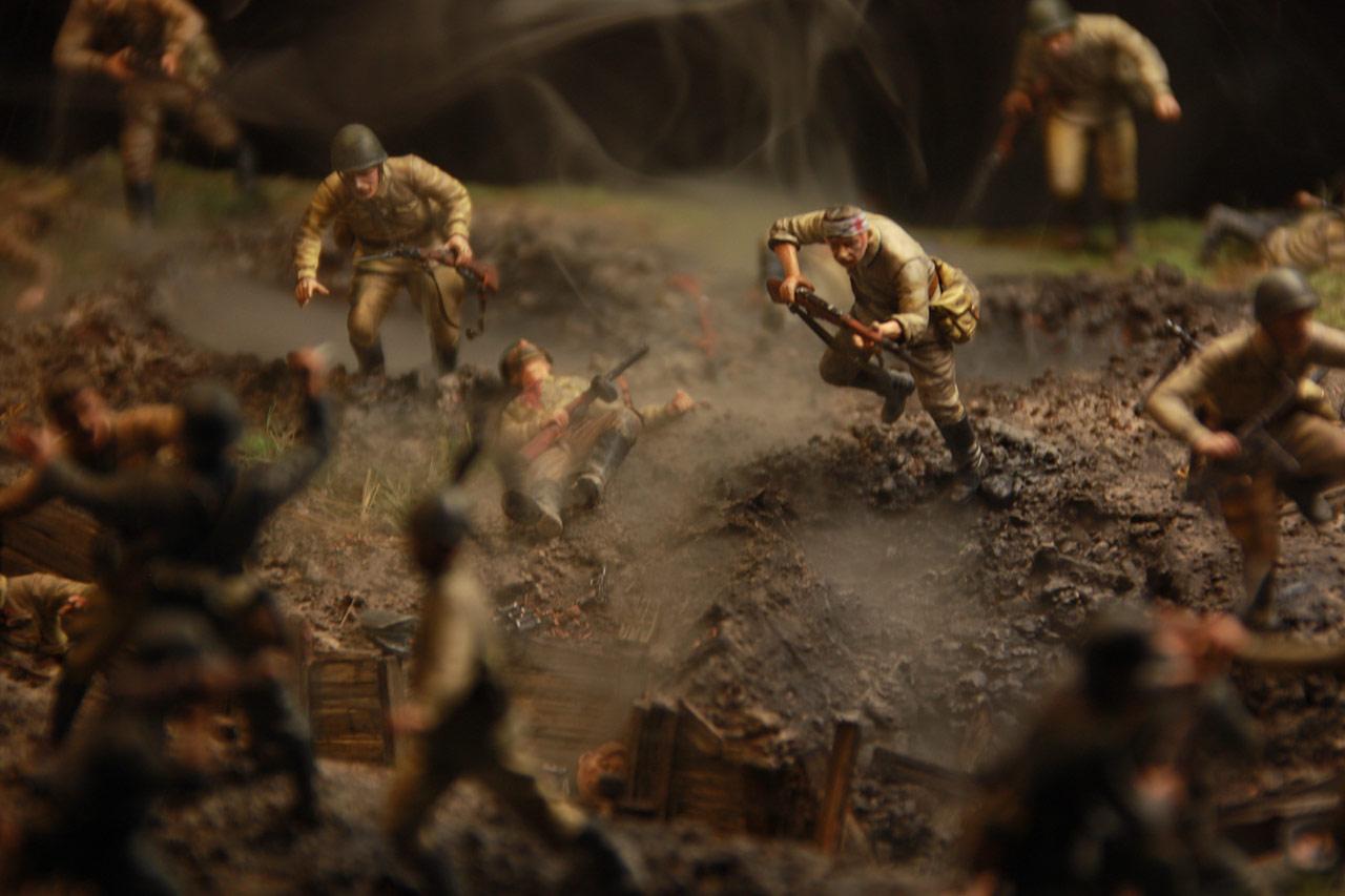 Диорамы и виньетки: В прорыв идут штрафные батальоны..., фото #37