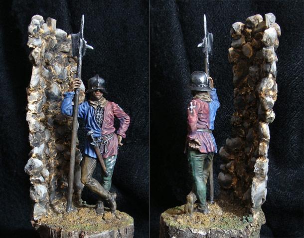 Фигурки: Европейский солдат, XV век