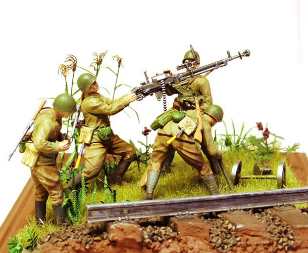 Диорамы и виньетки: Станковый пулемет ДШК