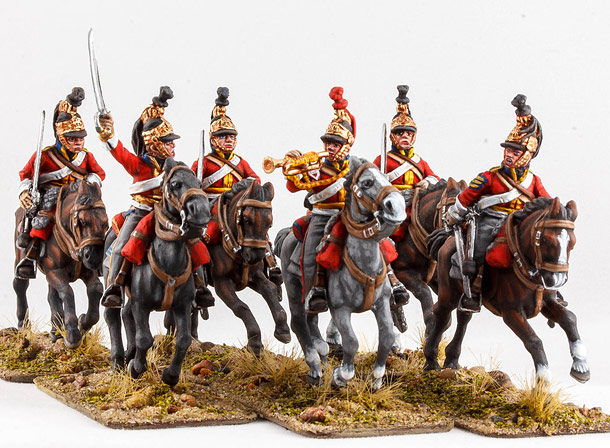 Фигурки: Британские гвардейские драгуны, 1815 г.