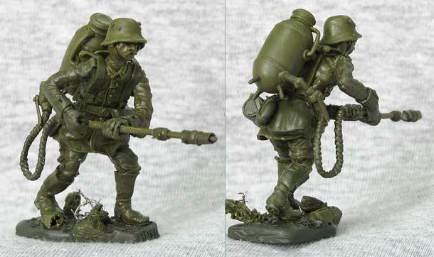 Скульптура: Германский огнеметчик
