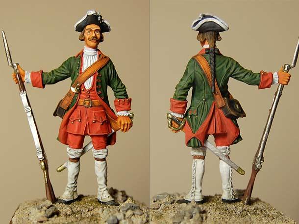 Фигурки: Фузелер армейской пехоты 1732-1742