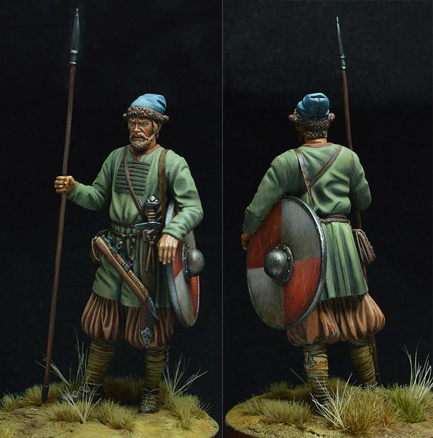 Фигурки: Древнерусский воин, X век.