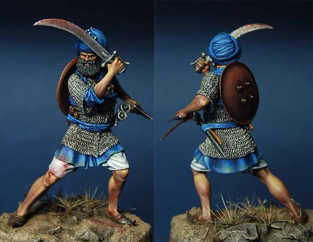 Фигурки: Воин Акали, Индия (XVIII-XIX вв.)