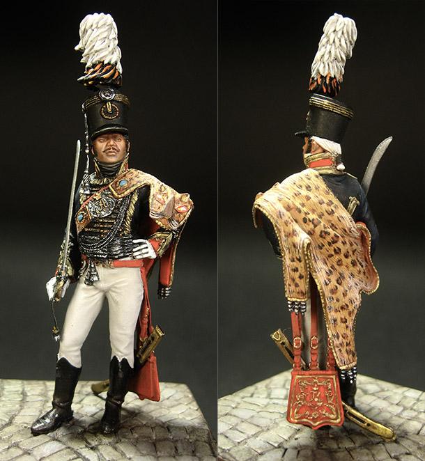Фигурки: Обер-офицер лейб-гвардии гусарского полка, Россия, 1803