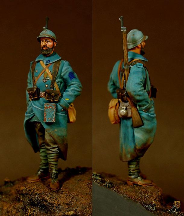 Фигурки: Французский пехотинец, Западный фронт, 1917