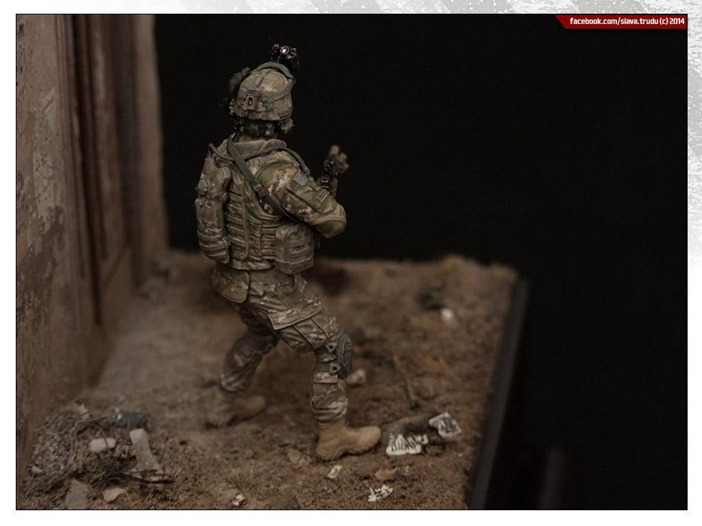 Диорамы и виньетки: Солдат армии США, война в Афганистане, фото #6