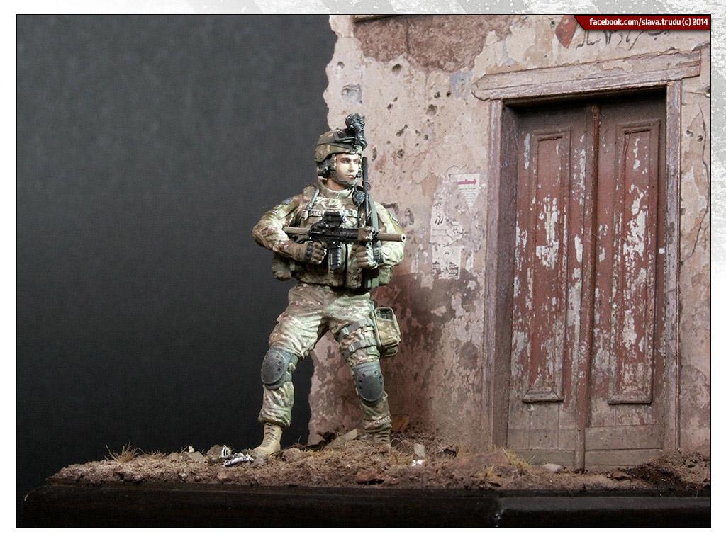 Диорамы и виньетки: Солдат армии США, война в Афганистане, фото #7