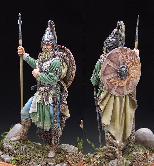Фигурки: Славянский воин, VII в.