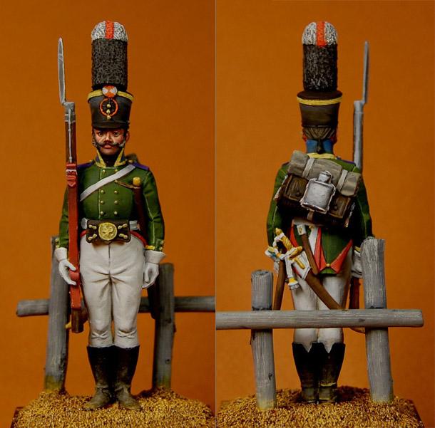 Фигурки: Унтер-офицер гренадерского батальона Калужского полка, 1805-07