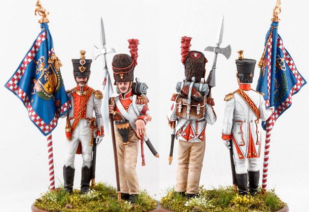 Фигурки: Знамённая группа 6-го линейного полка «Napoli», 1812 г.