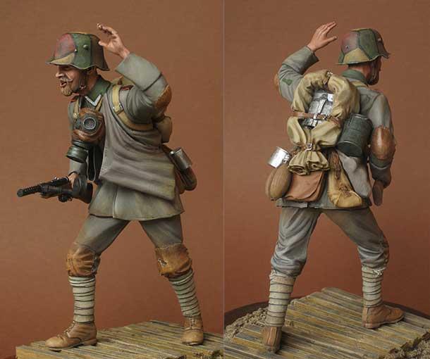 Фигурки: Немецкий штурмовик, 1918 г.