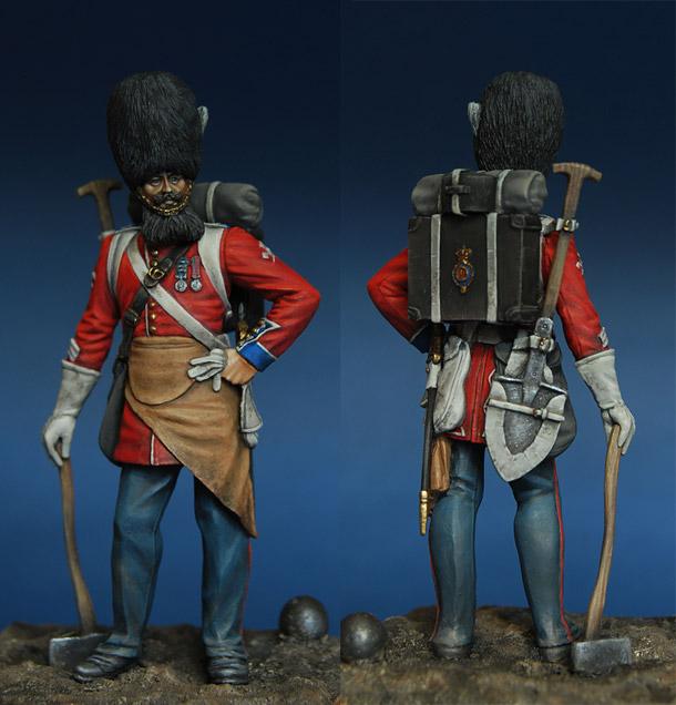 Фигурки: Сапер гренадеров британской гвардии, 1856-57