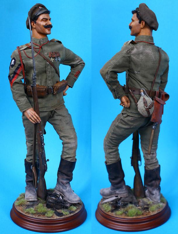 Фигурки: Фельдфебель «Батальона Смерти» 8-го стрелкового полка, лето 1917 г.