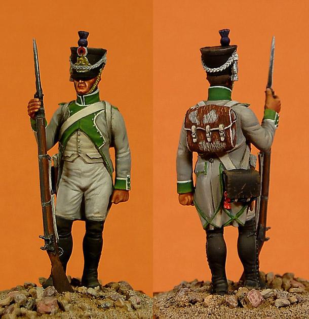 Фигурки:  Фузилер 3-го линейного полка, Франция, 1807 год