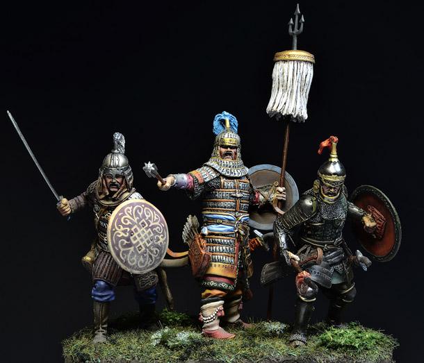 Фигурки: Монгольские воины, Куликовская битва