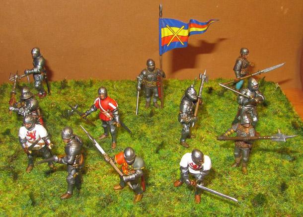 Фигурки: Пешие рыцари, позднее средневековье