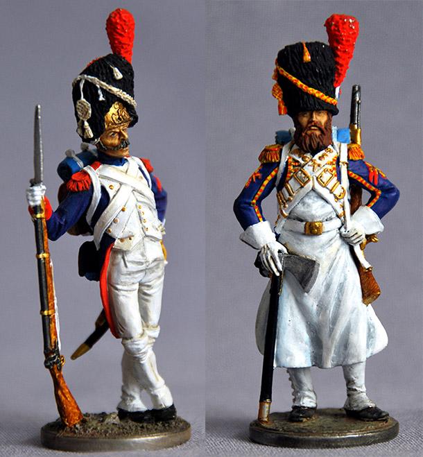 Фигурки: Пешие гренадеры Императорской гвардии